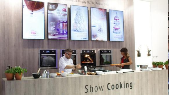 Speisekarte kann mittels digitaler Displays und unterschiedlicher Formate vielseitig ausgestrahlt werden